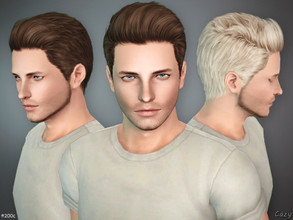 Sims 3 — #200C - Male Hairstyle by Cazy — Hairstyle C variant of #200 for Teen, Young Adult, Adult and Elder Males