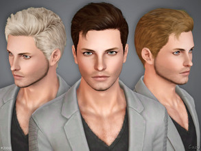 Sims 3 — #200D - Male Hairstyle by Cazy — Hairstyle D variant of #200 for Teen, Young Adult, Adult and Elder Males