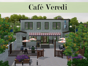 Sims 3 —  by Scape — A cafe for all your sims social needs! I built it on the university campus, so it fits in really
