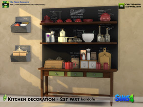 Sims 4 — kardofe_Kitchen decoration  2nd part by kardofe — Second part of the series of kitchen decorations. Twelve new