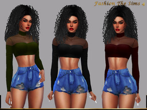 Sims 4 — Top Dara by LYLLYAN — Top in 5 colors. Base game.