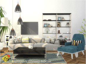 Sims 4 — Brittany Living Room by Onyxium — Onyxium@TSR Design Workshop Living Room Collection | Belong To The 2020 Year