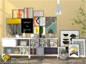 Sims 4 — Guernsey Living Room Extra Materials by Onyxium — Onyxium@TSR Design Workshop Living Room Collection | Belong To