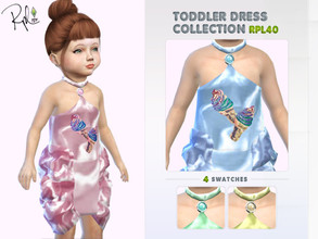 Sims 4 — Toddler Dress Collection RPL40 by RobertaPLobo — :: 4 swatches :: Occult: ALL :: Outfit: Everyday,Formal,Party