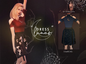Sims 4 — Dress Lunar by Alexa_Catt — Dress From teen to elder 5 swatches HQ compatible