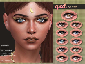 Sims 4 — [ Epoch ] - Eye Mask by Screaming_Mustard — A new shiny eye mask. For males and females, toddler +. With custom