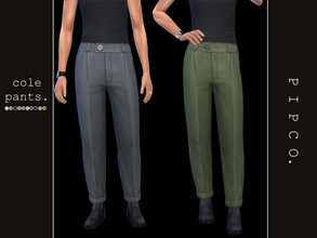 Sims 4 — pipco - cole pants (male). by Pipco — comfy, stylish pants. 10 swatches base game compatible ea mesh edit all