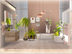 Sims 4 — Bathroom Angi Decor by ung999 — Decor objects for Bathroom Angi, set includes the following 9 items: Plant 1