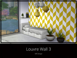 Sims 4 — Louvre Wall 3 by MR_Design — Louvre Wall 3 8 swatches