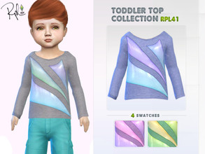 Sims 4 — Toddler Top Collection RPL41 by RobertaPLobo — :: 4 swatches. :: Age: Toddler (Female and Male) :: New Mesh ::