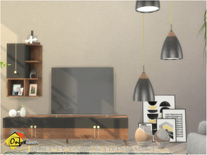 Sims 4 — Jersey TV Units & Living Space by Onyxium — Onyxium@TSR Design Workshop Living Room Collection | Belong To