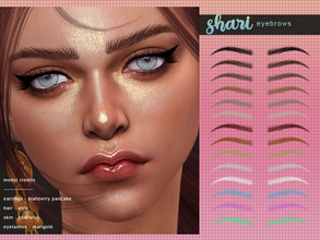 Sims 4 — [ Shari ] - Eyebrows by Screaming_Mustard — New eyebrows for Sims. For females, toddler +. With custom thumb