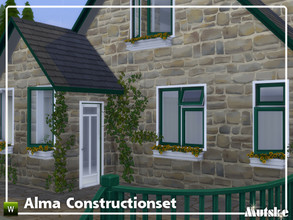 Sims 4 — Alma Constructionset Part 1 by Mutske — This is the first part of the Alma Construction. Some new curtains with