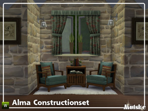 Sims 4 — Alma Constructionset Part 2 by Mutske — This is the second part of the Alma Construction. Some new curtains with