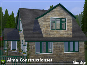 Sims 4 — Alma Constructionset Part 3 by Mutske — This is third part of the Alma Construction. Some new curtains with
