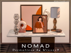 Sims 4 — Nomad Decorations by Winner9 — Minimal sleek looking decorations for my living room set Nomad. This set