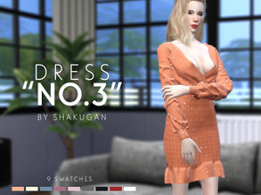 Sims 4 — Dress No. 3 by Alexa_Catt — Dress From teen to elder 9 swatches HQ compatible Original mesh All LODs Normal,