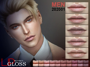 Sims 4 — S-Club LL ts4 Men Lip 202001 by S-Club — Men Lip 10 swatches, hope you like, thank you.