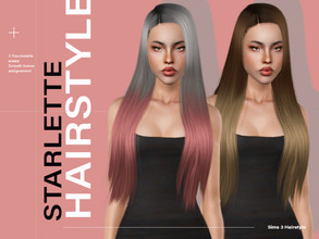 Sims 3 — LeahLillith Starlette Hair by Leah_Lillith — Starlette Hair All LODs Smooth bones assignement Custom CAS