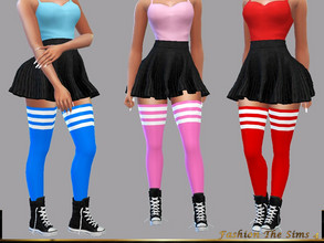 Sims 4 — Socks Fiona by LYLLYAN — Socks in 5 colors. Base game.