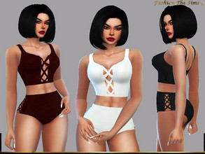 Sims 4 — Bikini Tamara by LYLLYAN — Bikini in 5 colors . Base game.