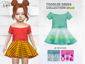 Sims 4 — Toddler Dress Collection RPL42 by RobertaPLobo — :: 4 swatches :: Occult: ALL :: Outfit: Everyday,Formal,Party