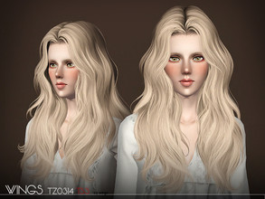 Sims 3 — WINGS HAIR TS3 TZ0314 F by wingssims — S4 conversion All LODs Smooth bone assignment hope you like it