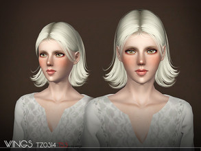Sims 3 — WINGS HAIR TS3 TZ0325 F by wingssims — S4 conversion All LODs Smooth bone assignment hope you like it