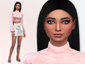 Sims 4 — Abbie Carson by Mini_Simmer — Abbie is a young adult. Her traits are Creative, Good and Ambitious. Her
