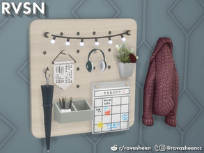 Sims 4 — Peg To Differ - Entryway Set by RAVASHEEN — This entryway add-on is part of the 'Peg To Differ' pegboard series