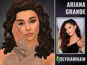 Sims 4 — Ariana Grande SIm by Golyhawhaw — A sim I have based off of Ariana Grande. I want a mix between her Grammy's
