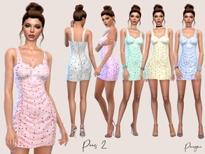 Sims 4 — Pois 2 by Paogae — A timeless polka dot short dress, elegant and funny, six colors, perfect for spring and
