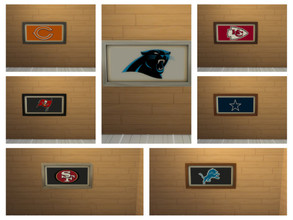 Sims 4 — Football teams Pictures by sweetheartwva — 7 Different Football teams pictures..