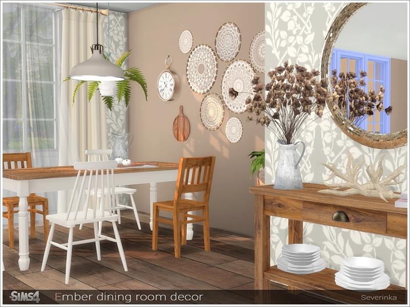 Severinka S Ember Dining Room Decor