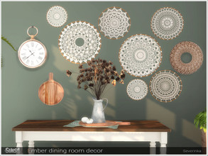 Sims 4 — Ember dining room decor by Severinka_ — A set of decor for the decoration of the dining room. Perfect for