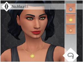 Sims 4 — Necklace 13 by AleNikSimmer — Necklace I made for Missultimate99 on tumblr. It tends to clip/deform with extreme