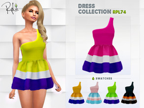 Sims 4 — Dress Collection RPL74 by RobertaPLobo — :: 6 swatches :: New Mesh :: All lods :: Age: Adult :: Occult: ALL ::