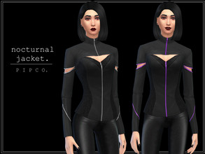 Sims 4 — pipco - nocturnal jacket. by Pipco — a stylish jacket. 8 swatches base game compatible ea mesh edit all lods