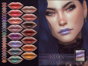Sims 4 — Neon Lipstick by RemusSirion — Neon Lipstick HQ mod compatible: preview pictures were taken with HQ mod Lipstick