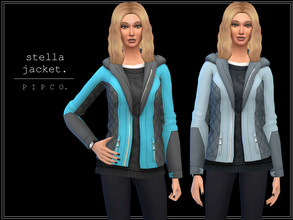 Sims 4 — pipco - stella jacket. by Pipco — a colourful, stylish jacket. 10 swatches base game compatible ea mesh edit all
