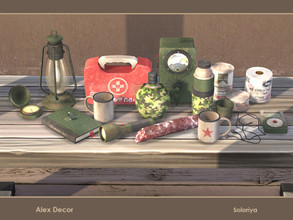 Sims 4 — Alex Decor by soloriya — A set of decorative objects for your apocalyptic gameplay. Includes 13 objects, has 3