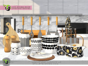 Sims 4 — Avis Kitchen Decor by NynaeveDesign — Give your sim's kitchen a Scandi update with timeless decor pieces that