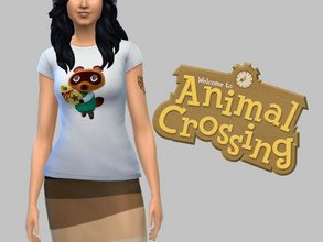 Sims 4 — Animal Crossing T-shirt - Base Game by TulipSniper — Your favorite little animal friends ! 4 different prints.