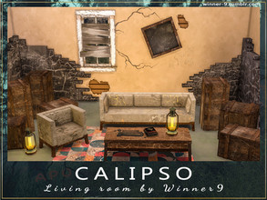 Sims 4 — Calipso Living Room by Winner9 — Apocalyptic living room inspired by Fallout atmosphere. This set contains: 1)