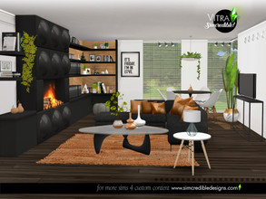 Sims 4 — Vitra Living Room by SIMcredible! — Vitra is a 2 part set. Today you'll get the living room and its modern