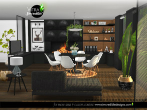 Sims 4 — Vitra Dining room by SIMcredible! — Completing Vitra collection, now it's time for the dining room. Following