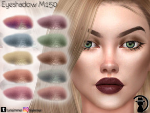 Sims 4 — Eyeshadow M150 by turksimmer — 10 Swatches Works with all of skins Custom Thumbnail All ages For; Female