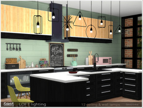Sims 4 — Loft lighting by Severinka_ — Set of ceiling and wall lights in Loft style The set includes 12 lamps 4 wall