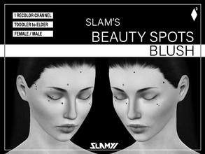 Sims 3 — Slam's Beauty Spots Blush by SLAMYY — Painted the beauty spots on my face to use for creating my simself. 13