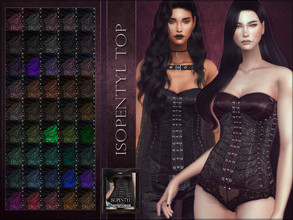 Sims 4 — Isopentyl Top by RemusSirion — Isopentyl top HQ mod compatible: preview pictures were taken with HQ mod Top